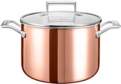 Кастрюля KitchenAid, 7.57л с крышкой (3 Ply Copper), глянц.медь KC2P80SCCP Kitchenaid от магазина ЭЛМИ