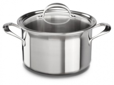 Кастрюля KitchenAid, 7.57л с крышкой (5 Ply Copper Core), нерж.сталь KC2C80SCST Kitchenaid от магазина ЭЛМИ